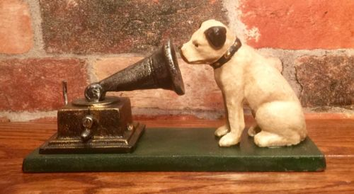 Cast Iron RCA Victor Nipper Dog Figurine, Rogers Foundry, Birmingham