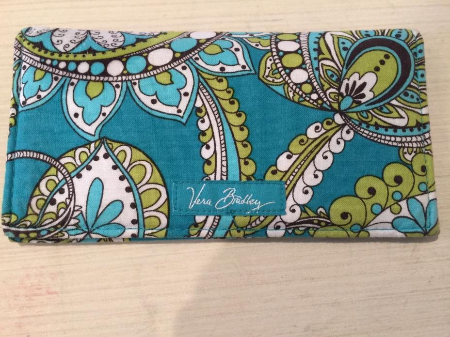VERA BRADLEY Peacock Print Checkbook Cover