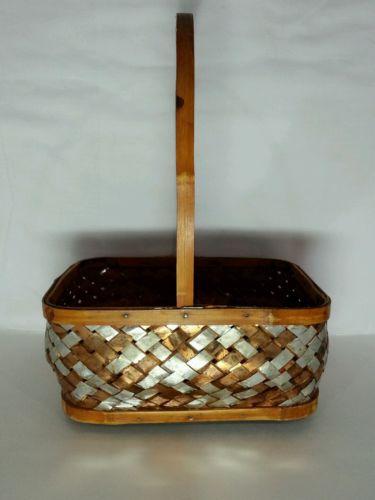 Woven Basket Copper