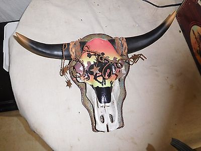 DECORATIVE WESTERN FAUX COWSKULL