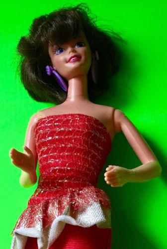 Vintage Mattel Midge Barbie Doll - Brunette Bubblecut Barbie Doll Stamped