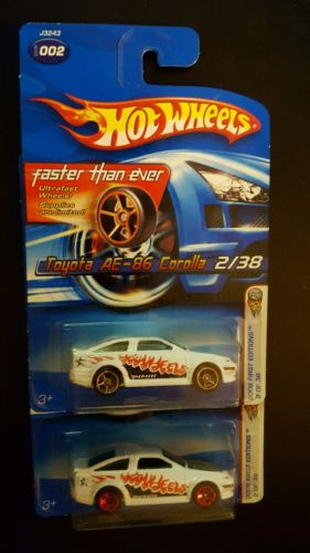 Hot Wheels - Toyota AE-86 Corolla variation  - First Edition  lot faster than