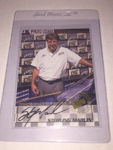 STERLING MARLIN 1998 PRESS PASS SIGNINGS AUTOGRAPH #7 Rare!! $30