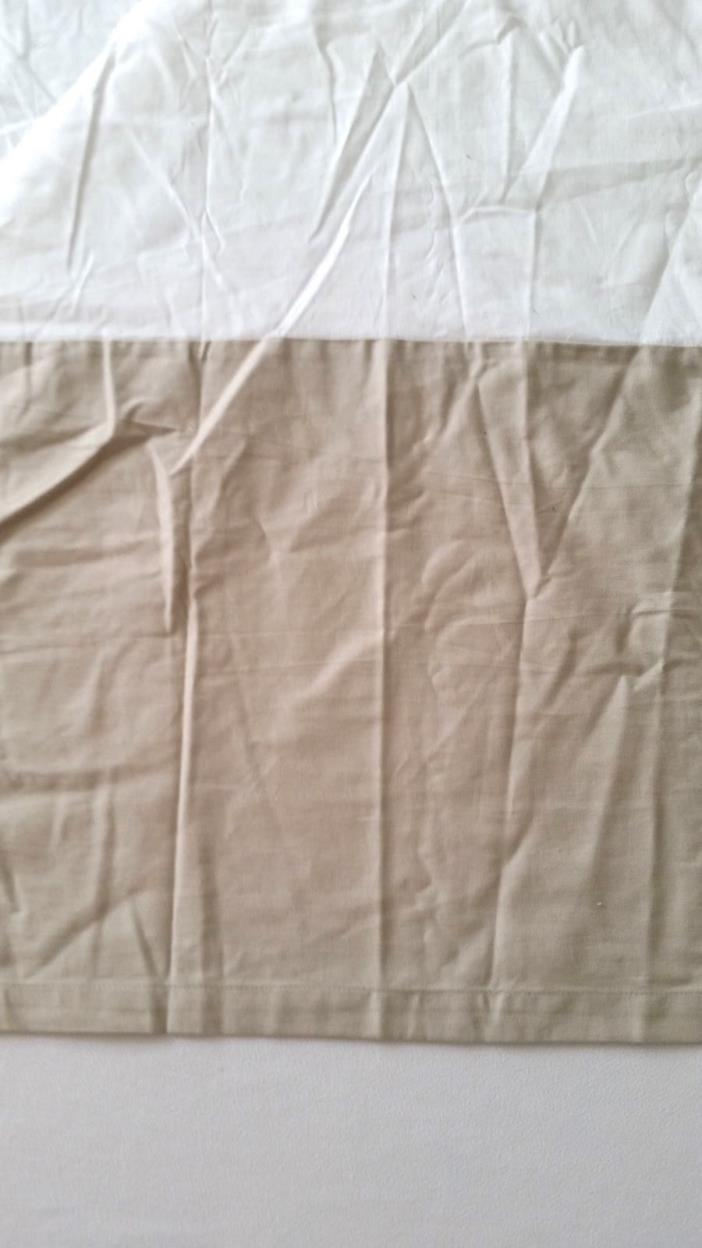 Nautica California King Bed Skirt Dust Ruffle Tan Beige 72