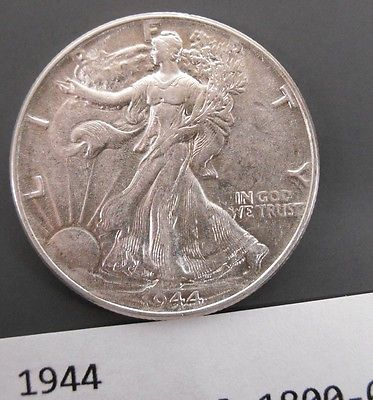 Silver 1944 Walking Liberty 50 Cent - Nice coin