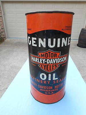 Vintage Harley Davidson Oil Can Dealers Trash Can