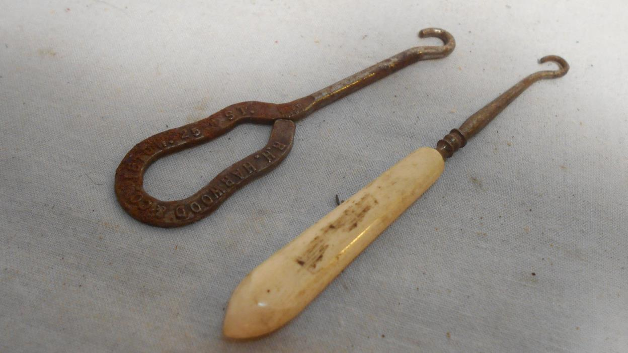 Shoe Button Hooks Antique