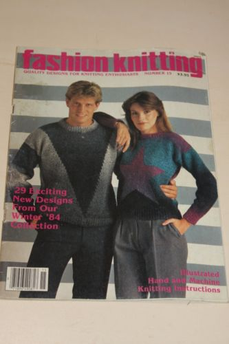 Fashion Knitting 1984 Hand and Knitting Machine Pattern Magazine