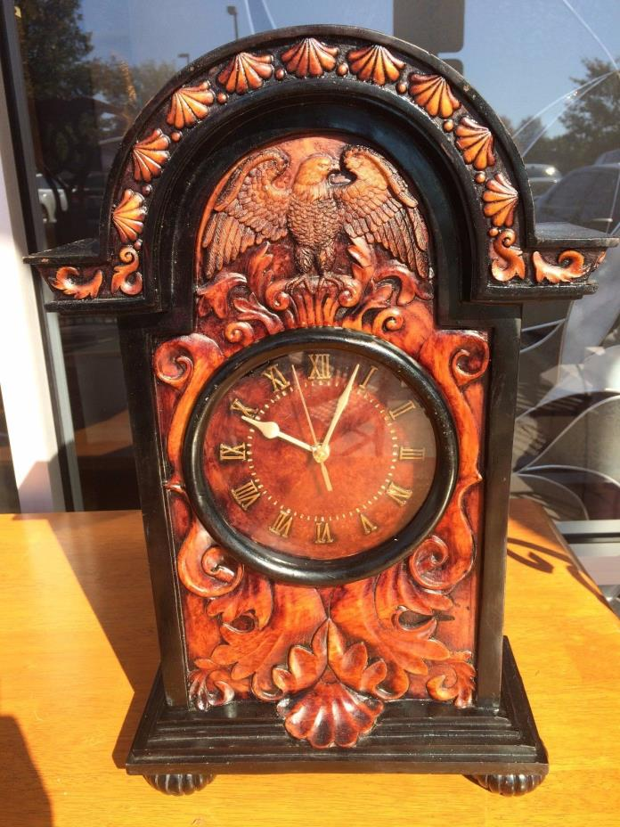 Americana Themed Mantle Clock at The Raleigh Furniture Gallery