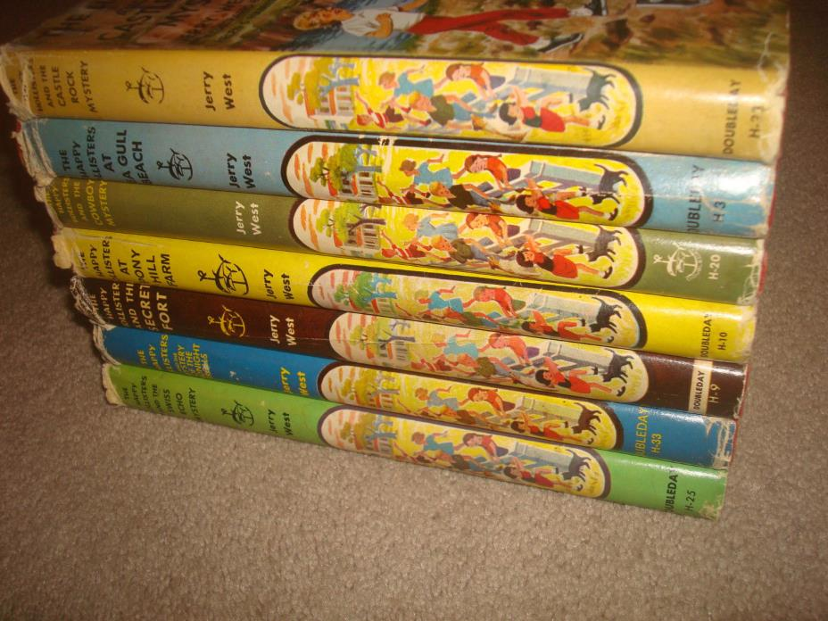 The Happy Hollisters Book LOT Set Kids Hardcover HC Mystery of Midnight Trolls