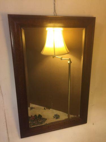 Mirror antique Cross Cut Oak 23