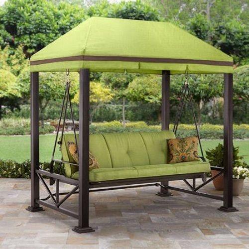 Outdoor Patio Set 3 Person Swing Gazebo Bench Yard Shade Garden Seat Couch Chair