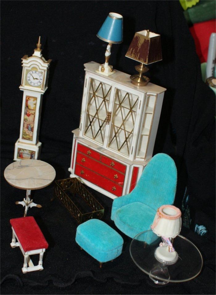 VTG Ideal Dollhouse Furniture PETITE PRINCESS Japan HUGE LOT HOLLYWOOD REGENCY