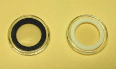 100 23mm Air-Tite Holder With White Insert Ring For US Half Cent and 2 Cent T23