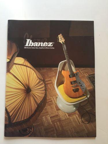 2003 Ibanez Guitar Catalog Jet King Iceman Jem RG PGM RG MMM Talman
