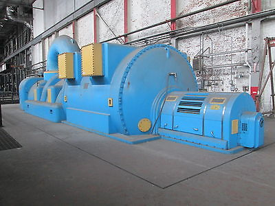 Westinghouse 43750 KW A.C Hydrogen Cooled Generator W/Dual 850 Lb Steam Turbines