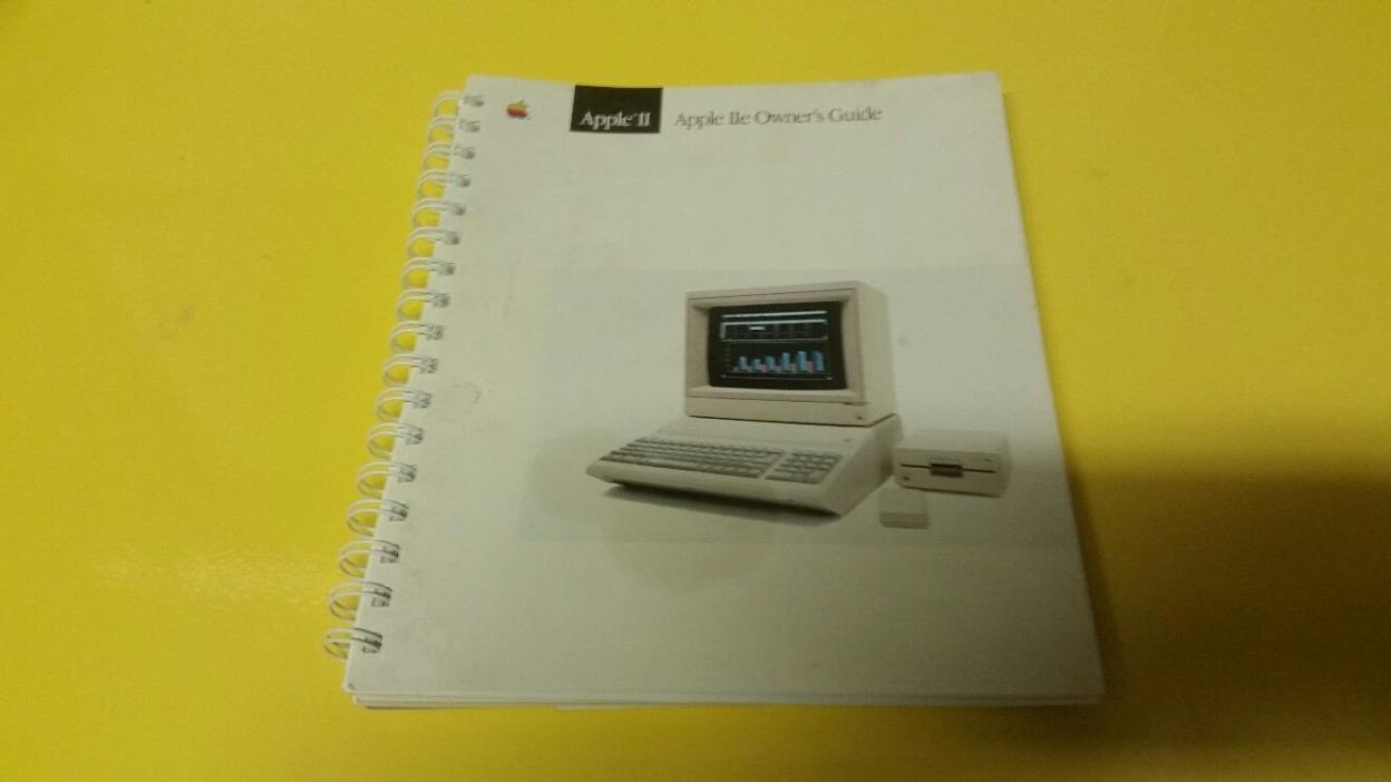 APPLE II IIe User OWNER'S GUIDE Manual