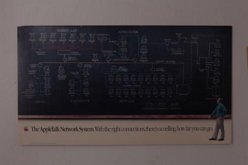 VTG 1988 APPLE MACINTOSH MAC COMPUTER STORE DISPLAY POSTER