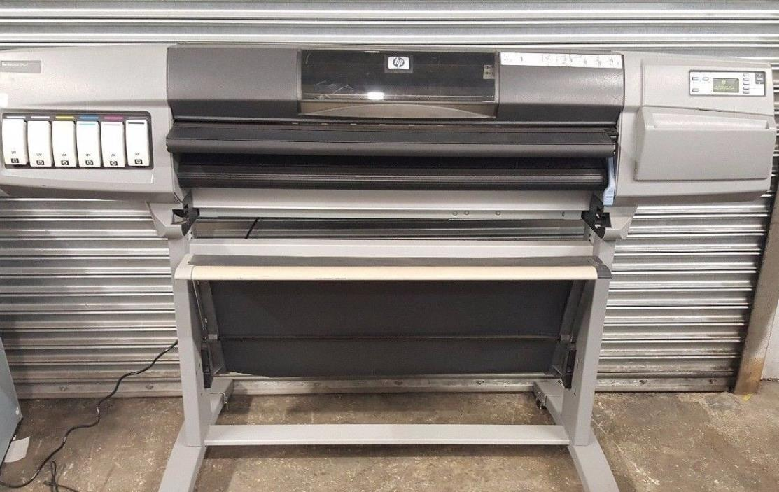 HP Designjet 5000 5500 PS UV inks wide large format printer (needs printhead)