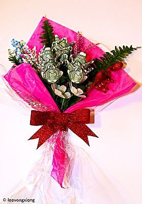 Dollar Bill Roses Bouquet from Real US $1 Dollar Bills