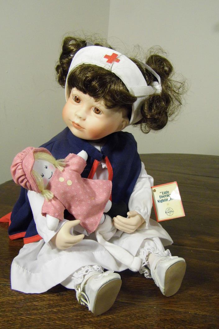 Knowles doll  Kathy Hippensteel - NURSE - 1990 16 inch - SOOO CUTE