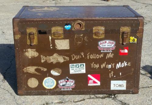 Antique Travel trunk decals decoration