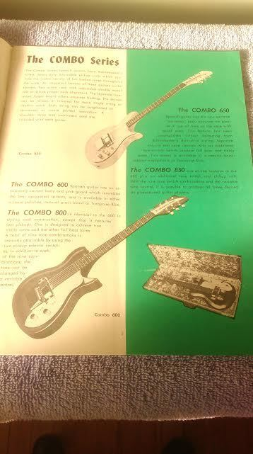 Rickenbacker Guitar Catalog Vintage 1957 Solid Electric Steel and amps 20 Page