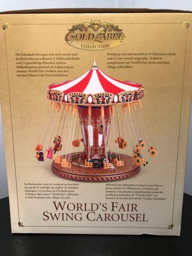 *NEW* Mr Christmas Gold Label World's Fair Swing Carousel