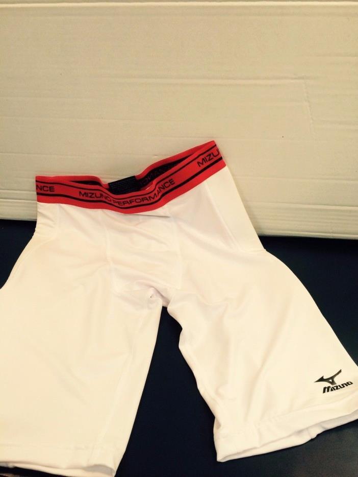 Mizuno White Mens Baseball Sliding Shorts- Size AXL