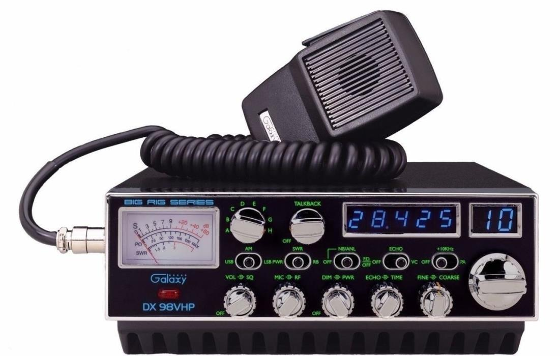 Galaxy DX98VHP 200 Watt 10 Meter CB Radio with Single Sideband