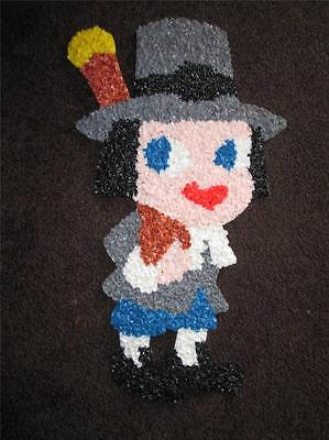 Melted Plastic Popcorn THANKSGIVING PILGRIM BOY COLLECTIBLE WALL DECORATION
