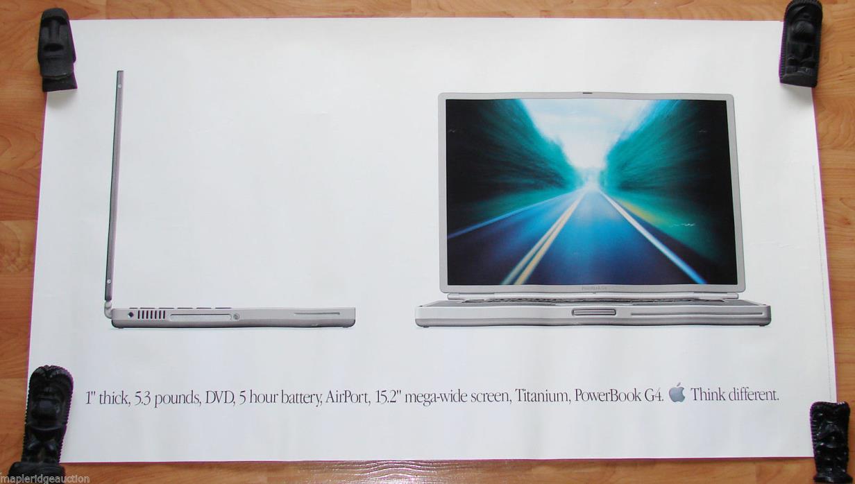 Apple Inc, Collectible Poster Titanium, PowerBook G4