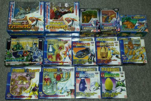 Rare Japanese Bandai Digimon Adventure 02 Digivolving Figure Set Complete Mint