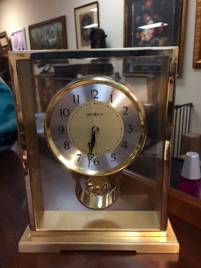 Howard Miller Brass Mantle Clock at The Raleigh Furniture Gallery