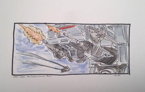 AT AT Imperial Walker, Star Wars- Original Watercolor Painting- Kevin Overbeck