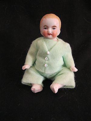 ANTIQUE GERMAN ALL BISQUE BABY, 3.5