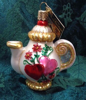 OLD WORLD ORNAMENT - FRIENDSHIP TEAPOT