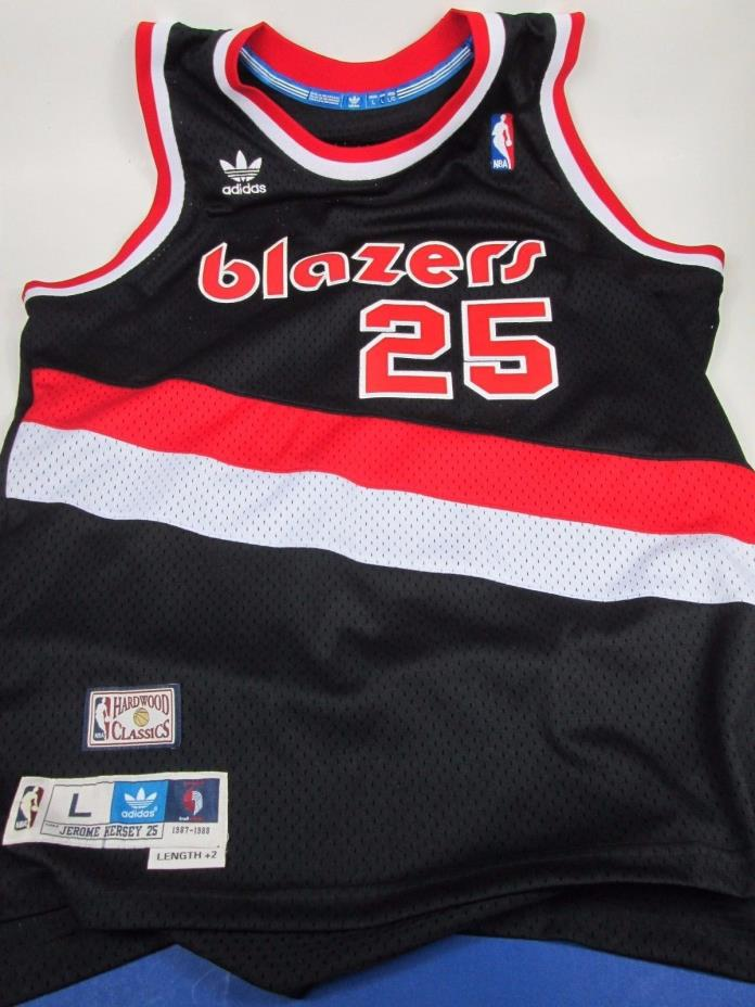 Adidas BLAZERS #25 JEROME KERSEY Throwback NBA Basketball Jersey Large