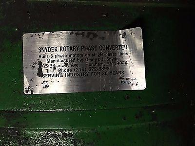 Snyder Rotary Phase Converter