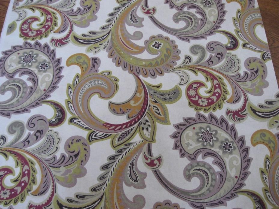 Paisley Upholstery Fabric ~Just over 7 Yards.