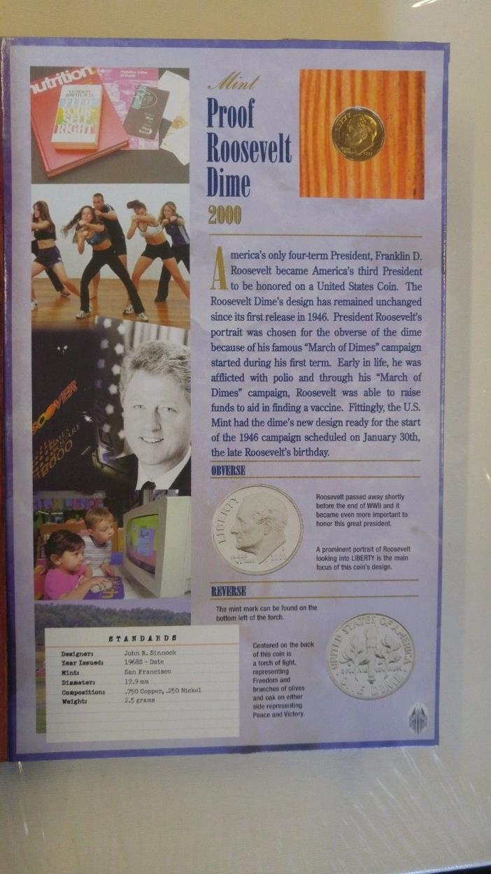 Commemorative Gallery Display Book,10 Coins / Proof / Uncirculated / Circulated