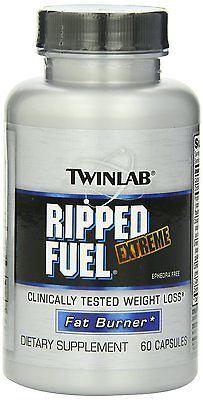 Twinlab Ripped Fuel Extreme Fat Burner, Ephedra Free, 60 Capsules