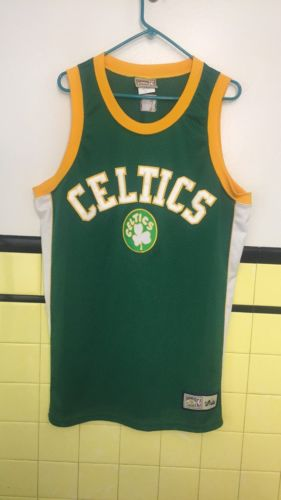 Boston Celtics Jersey Men's Large NBA Hardwood Classic