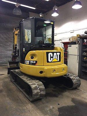 cat 305.5 ecr mini excavator, thumb, coupler