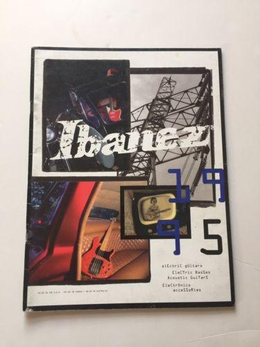 1995 Ibanez Guitar Catalog PGM Jem JS Iceman RG Talman
