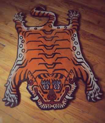 Highest  Quality Hand Woven Tiger Rug