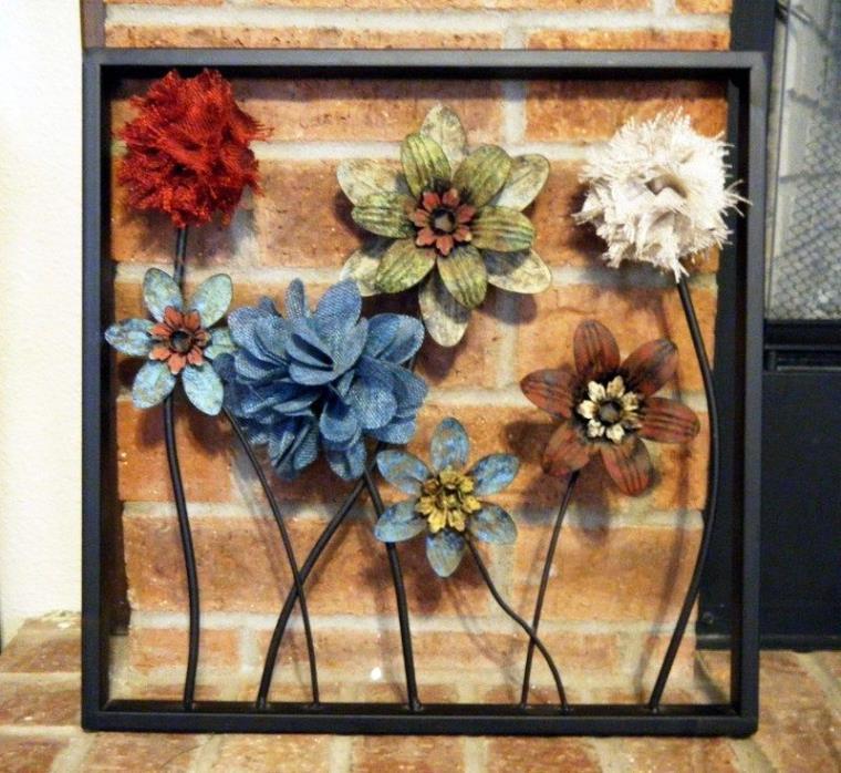 Framed Floral Metal Wall Decor