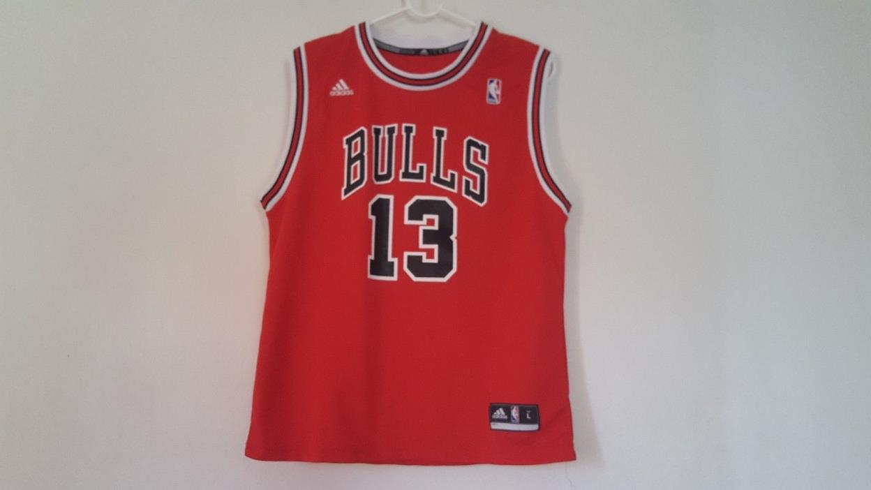 Joakim Noah Chicago Bulls #13 Adidas Boys Jersey sz L Large Red NBA  New No Tags
