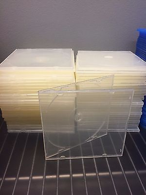 100 CD Cases - Square Clear Plastic - Slim