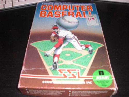 Computer Baseball SSI Atari 8-bit 400/800/XL Computer Game complete boxed